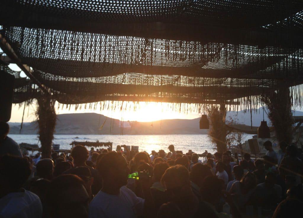 Sunset at beach club alemagou