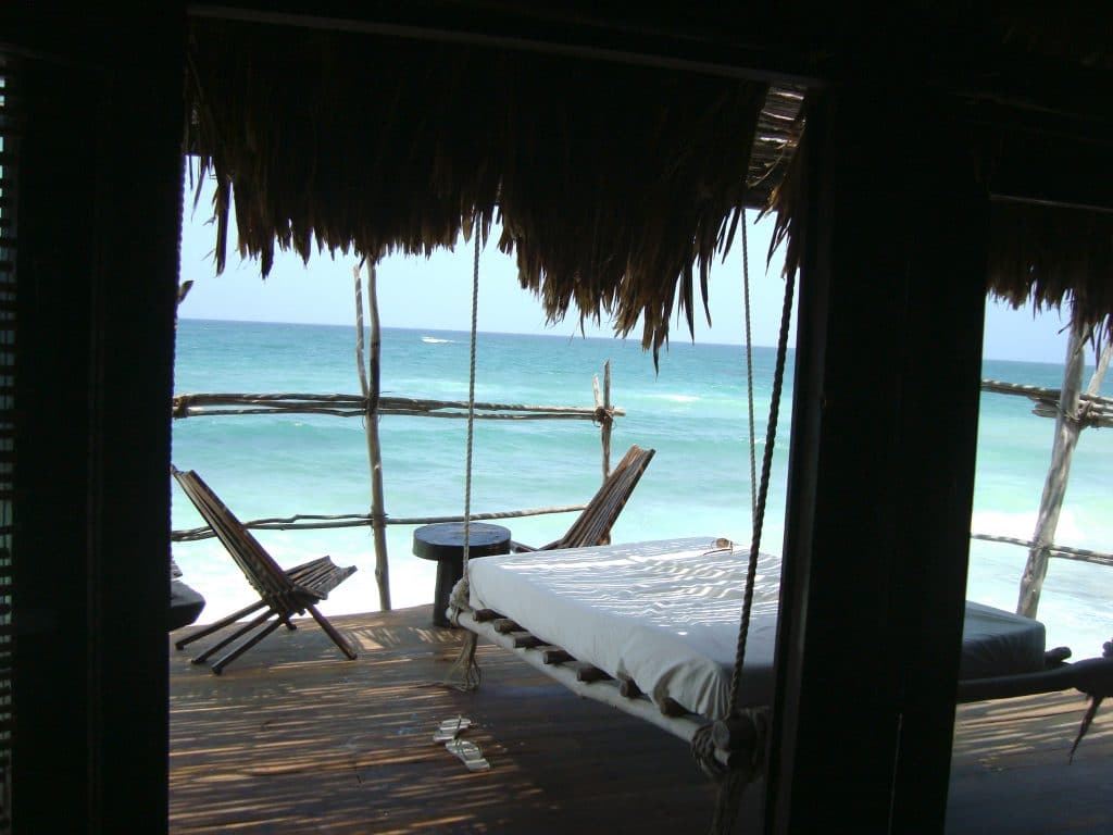 Ocen front room at Azulik in Tulum