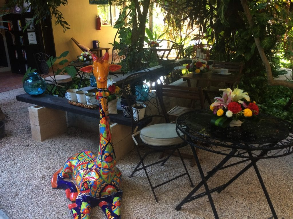 Breakfast corner at Villas Geminis Hotel Tulum