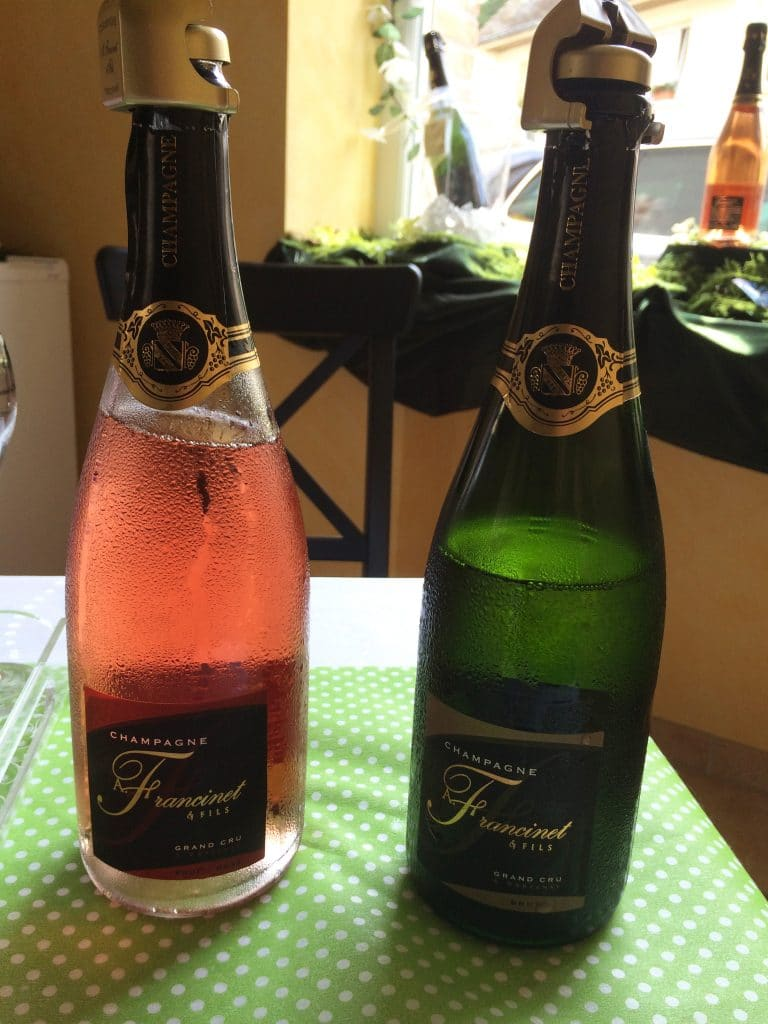two bottles of Champagne to taste