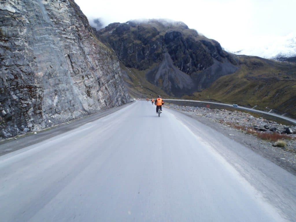 Cycling Death Road in Bolivia South America