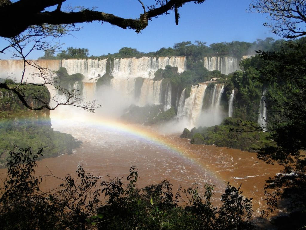 Waterfall of the Iguana Falls in South America