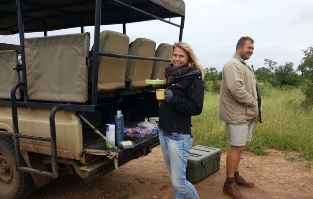 Breakfast in the bush during safari