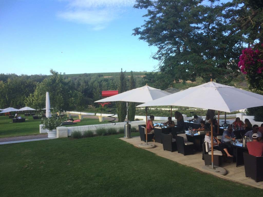 Wine tasting terrace at Peter Fallke