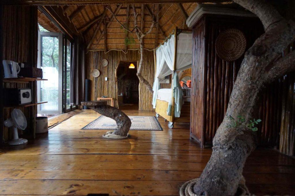 Sleeping in a tree lodge at Pezulu Tree House Lodge