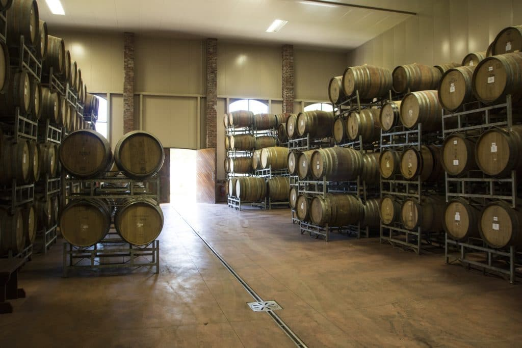 barrels of the Perdeberg winery