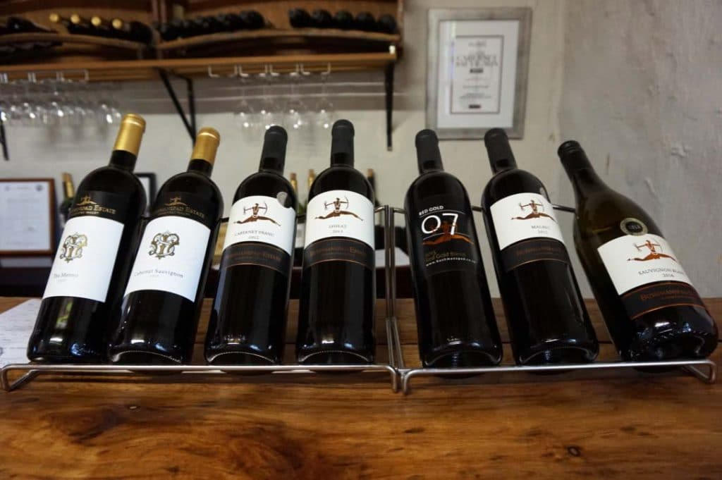 the wines from Bushmanspad Wine Estate