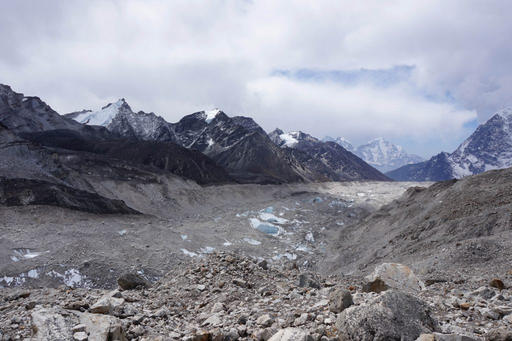 8 kilometer long glacier to Everest base camp