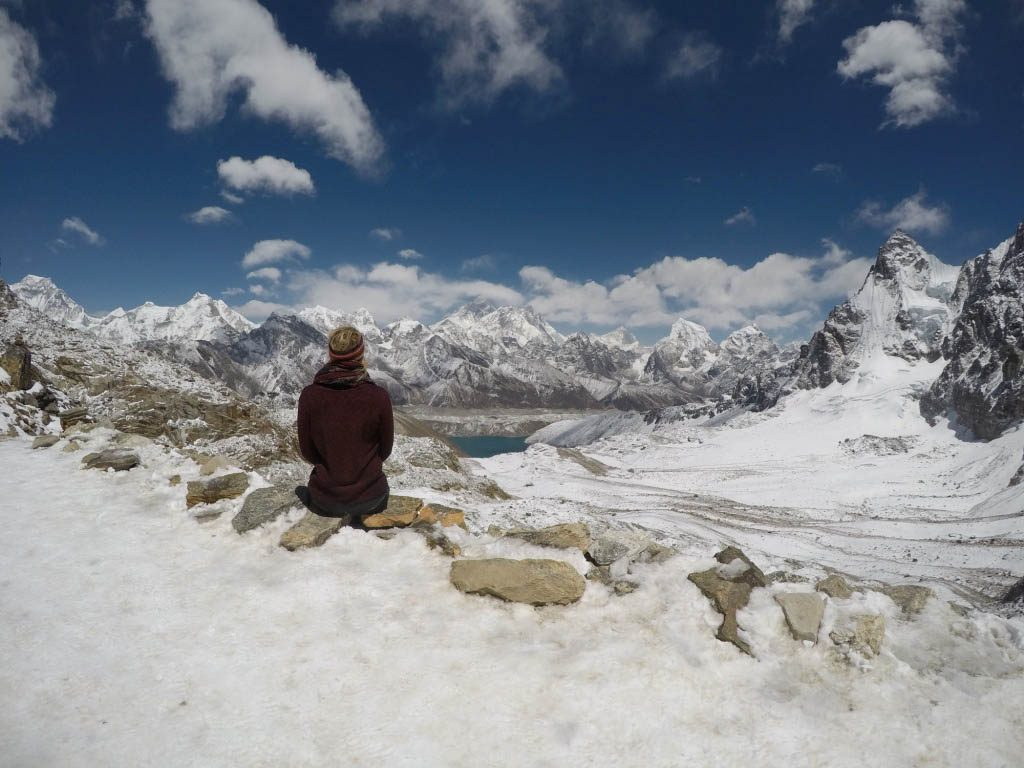 views of gokyo and Everest