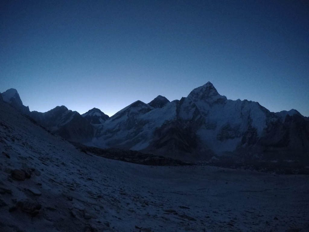 view of Everest at night