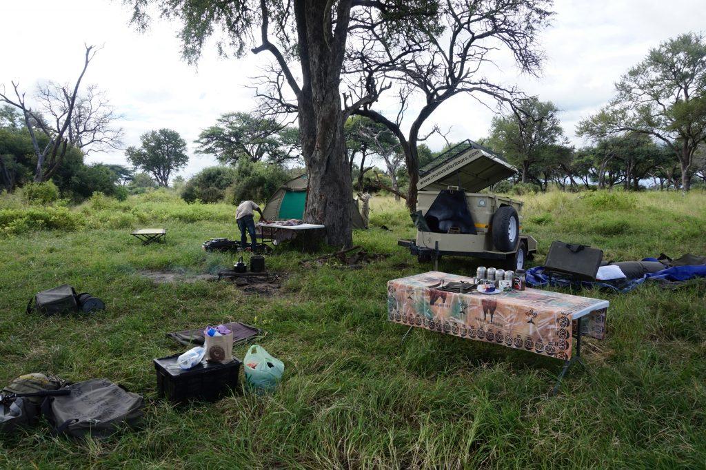 Preparing camp