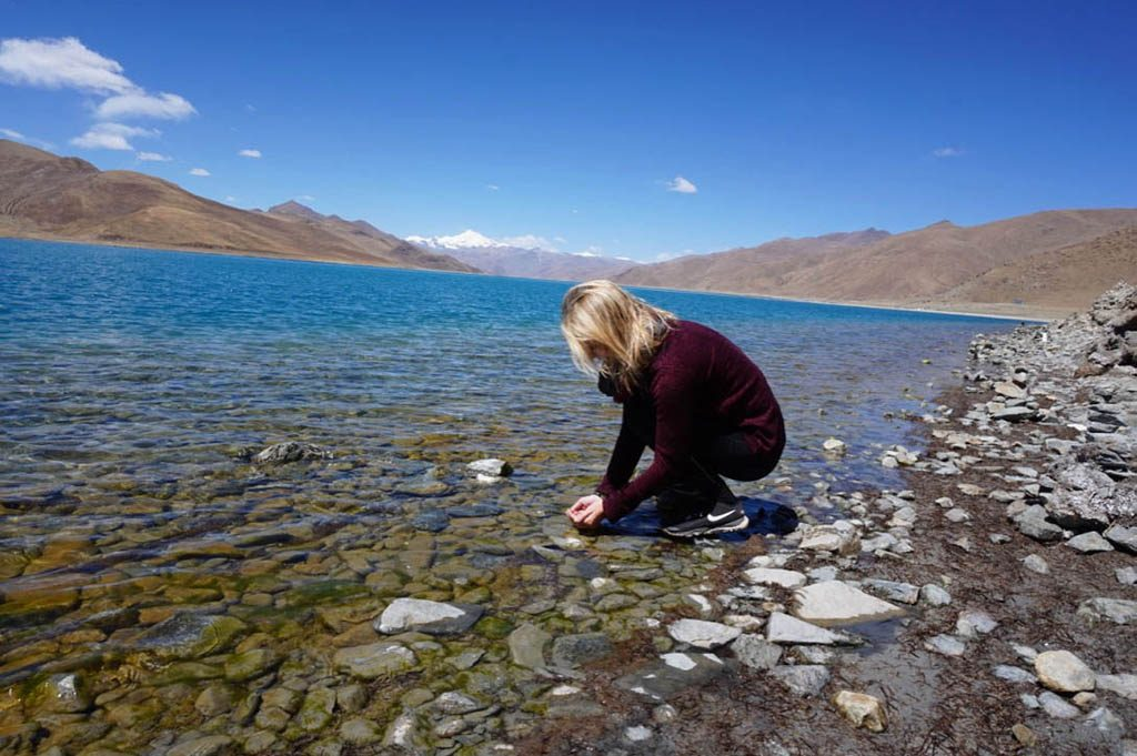 Holy lake visit during Tibet tour