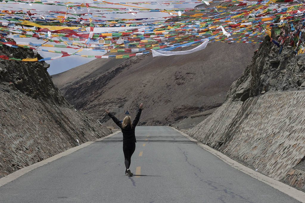 Well paved roasd to everest base camp Tibet during my Tibet tour