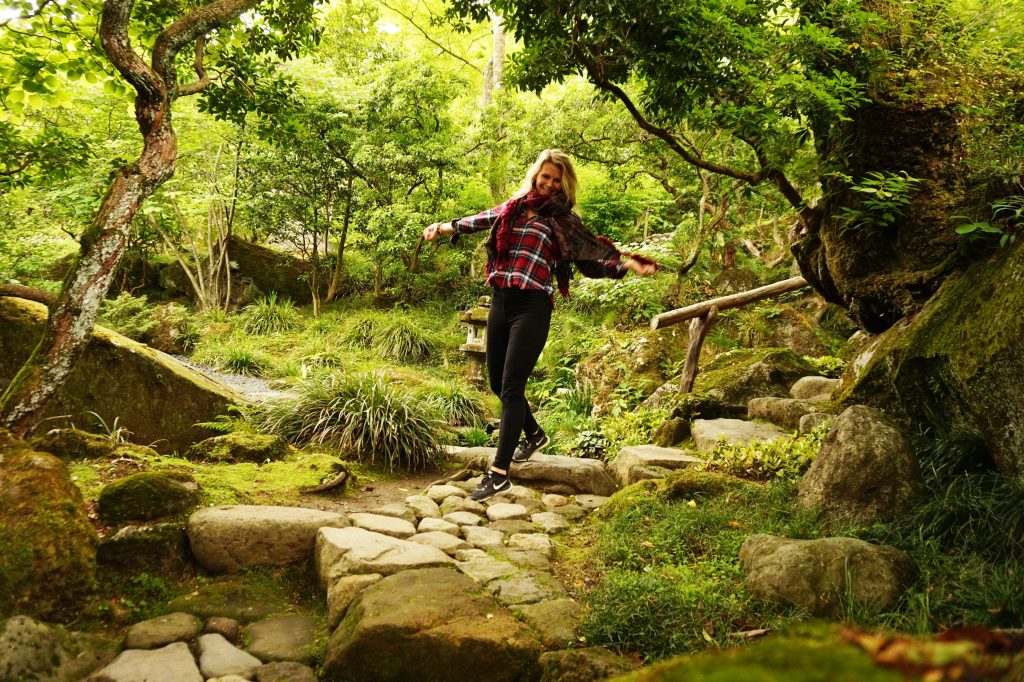 lush green garden and nature, reasons to visit Japan