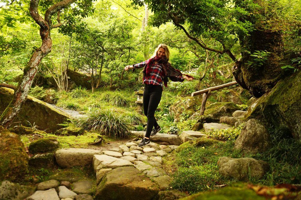 lush green garden and nature, reasons to visit Japan