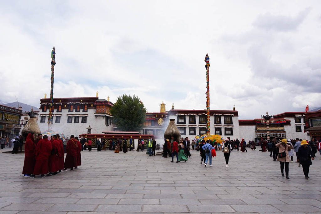 The jokhang temple in Lhasa visited during my Tibet tour