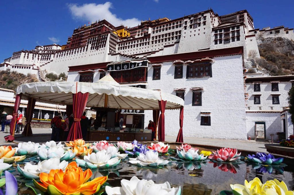 The palace of the Dalai Lama