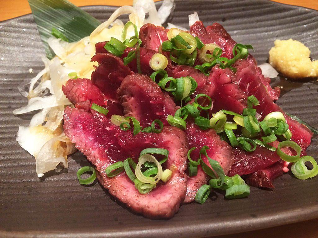 Popular Japanese food, sashimi in Japan