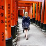 walking through Fushimi Inari Shrine in Kyoto