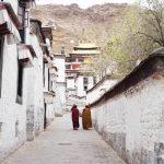 monks at Tashi Lhunpo monastery during my tibet tour