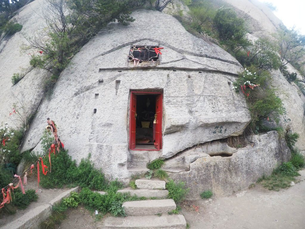 Pelgrims place hua shan mountain