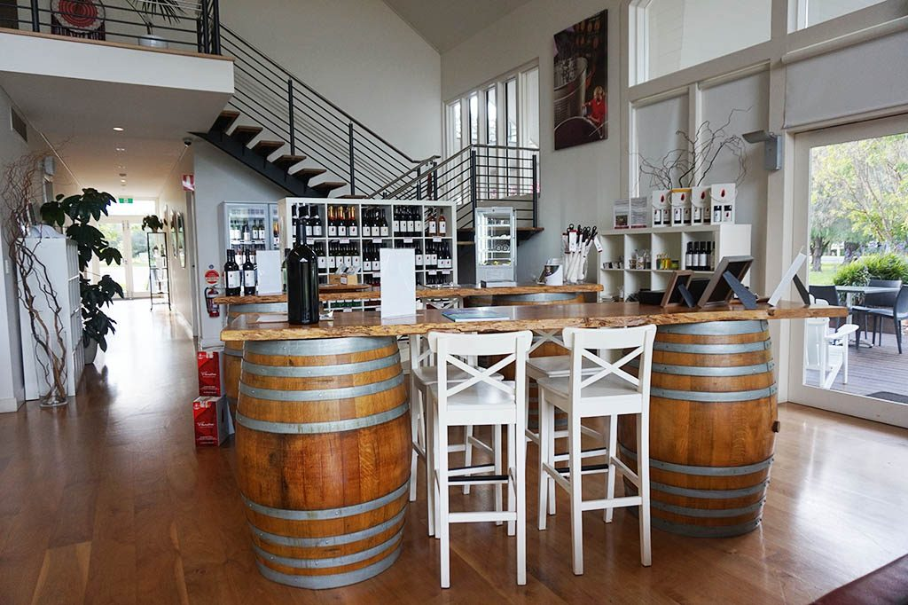 the beach house look tasting room at flame tree estate