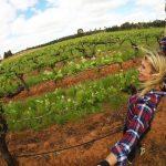 selfie in the vineyard