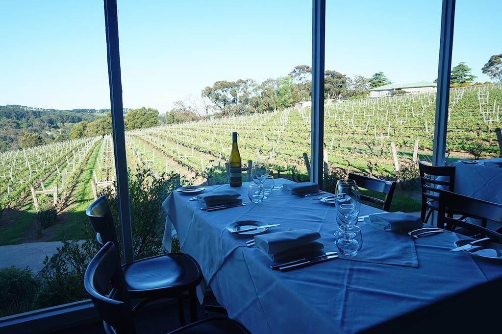 the restaurant with view of paring estate