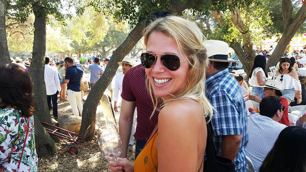 A big smile on my face on the wine festival in Valle de Guadalupe