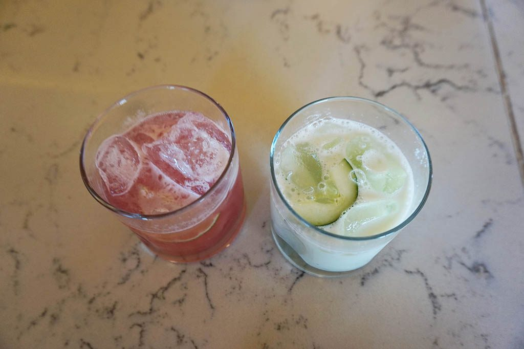 Tequila cocktails mixed by professionals at tequila herradura express train tour