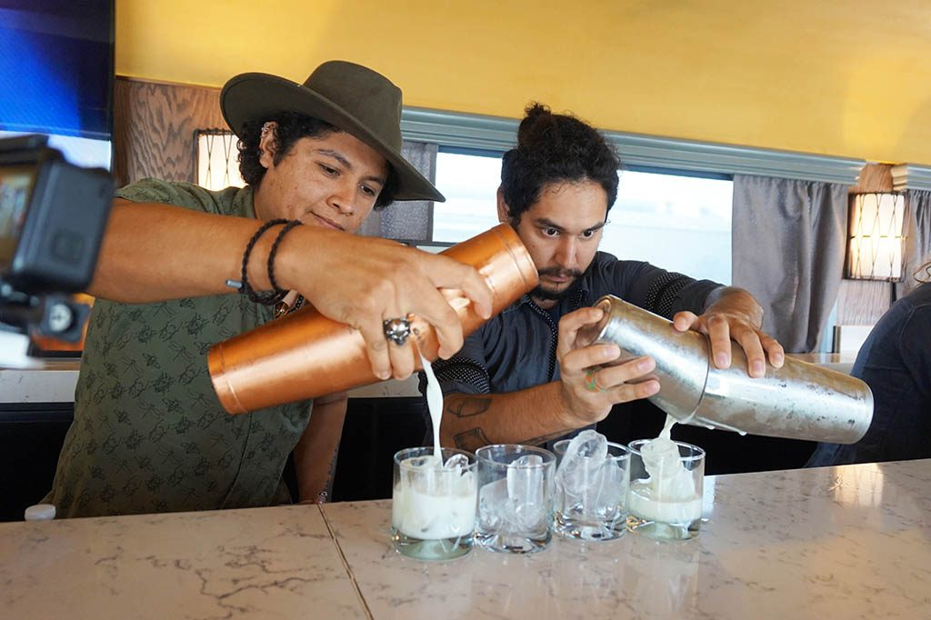 Mixologists are making tequila cocktails in the tequila herradura express