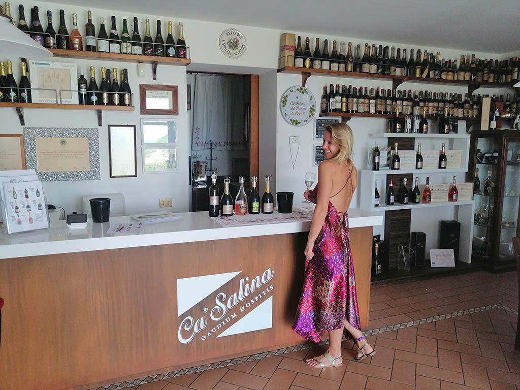 prosecco tasting at Ca Salina at the prosecco wine route