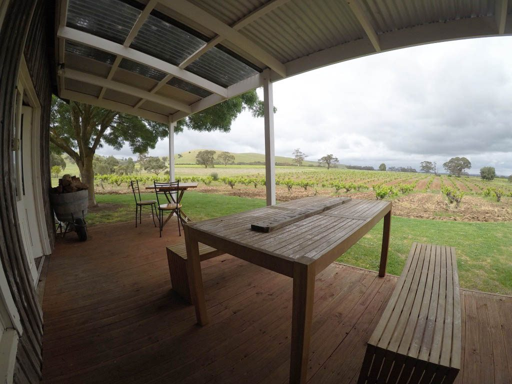 the terrace of Charles Melton winery