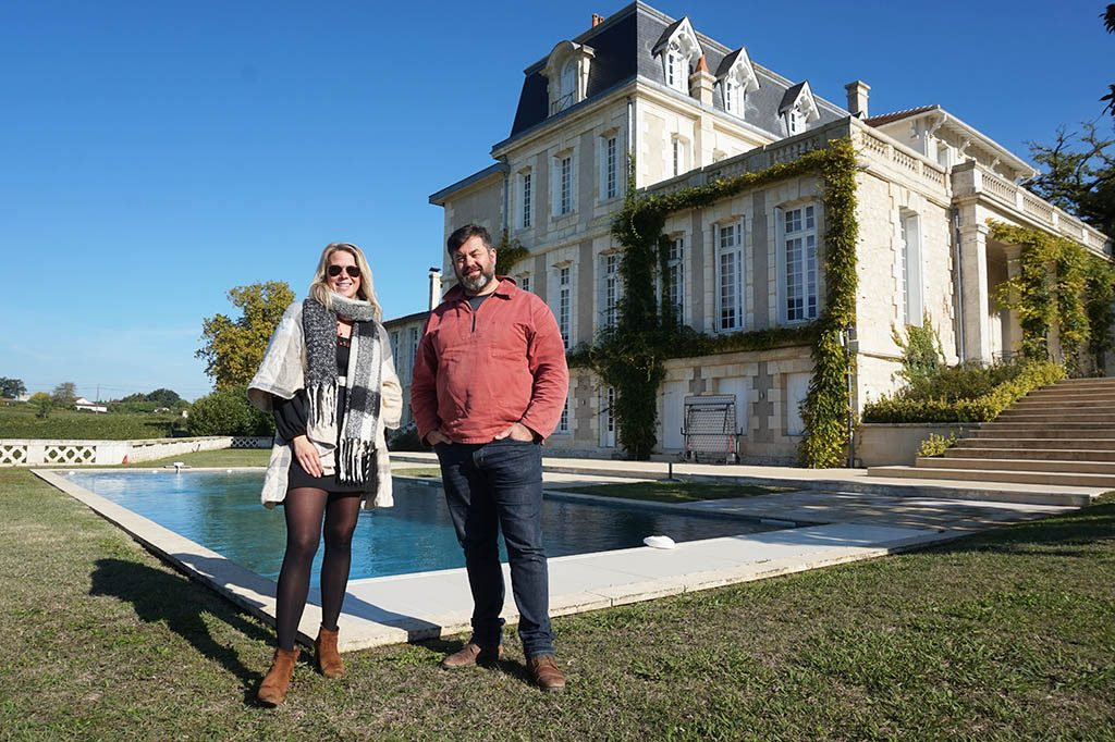 Loes and Damien at chateau gaby