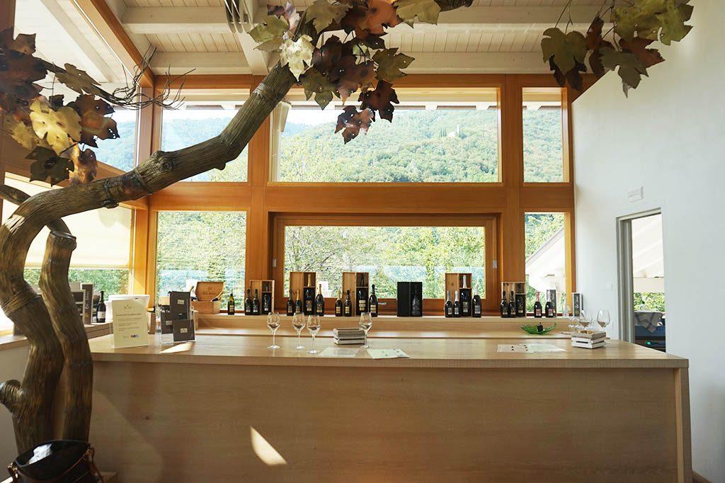 prosecco tasting bar at the prosecco wine route