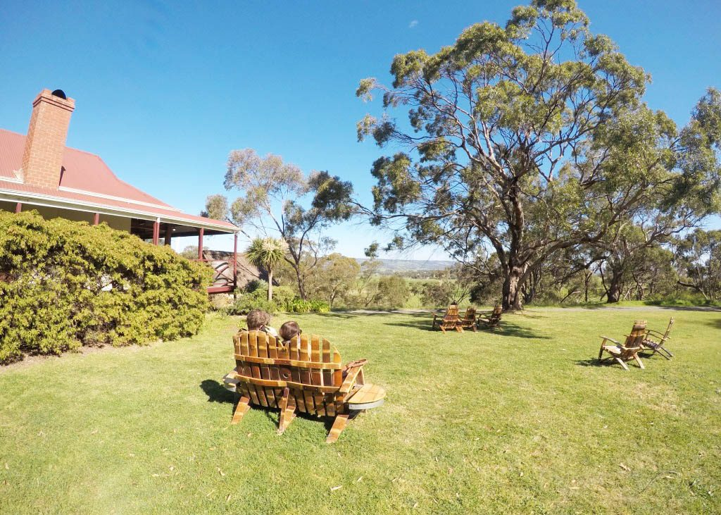 lounge chairs at McLaren Vale wineries