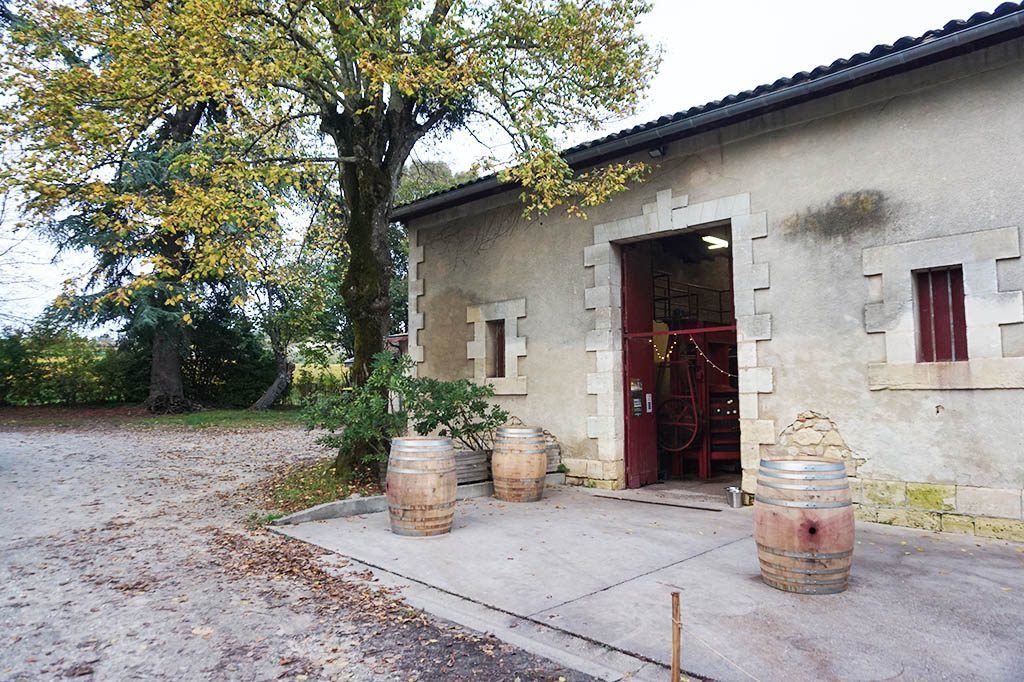 The winery of Vignobles Ponty at Fronsac wine region